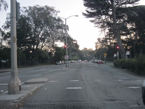 This street is in average-to-good condition by San Francisco standards. Lots of cars mean lots of damage.
