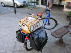 Yes, the MinUte is a real cargo bike.