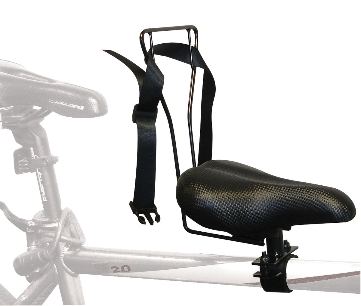 Baby chair on bike - This Is The Oxford Leco Top Tube Seat Footrests Not Shown
