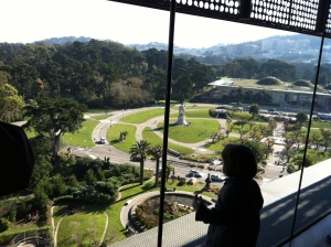 Our kids mostly ignored the view from the tower of the de Young museum.