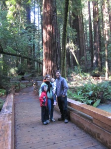 There were enough other people at Muir Woods on Christmas Eve to get a family picture.