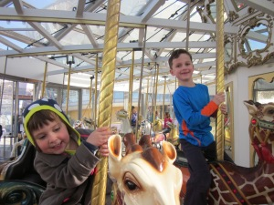 The Children's Creativity Museum has its own carrousel.