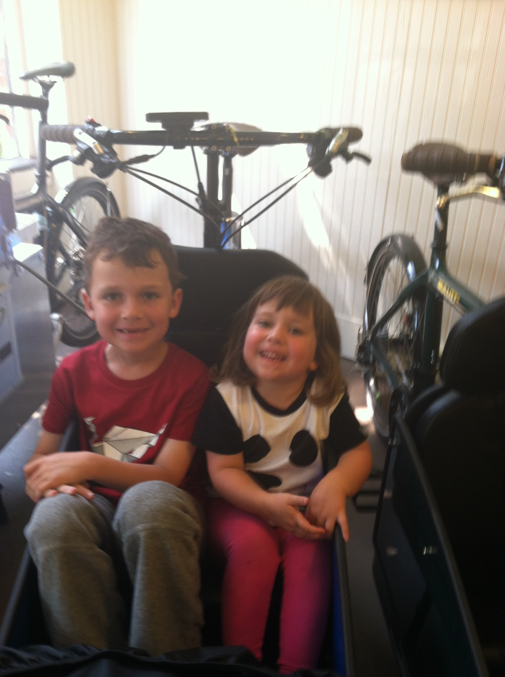 Even last summer when we rented the Bullitt, both kids were sometimes  willing to ride