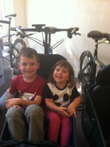 Even last summer when we rented the Bullitt, both kids were sometimes willing to ride together.
