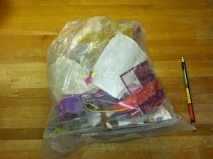 What we sent to the landfill last week: medical waste from ER visit, birthday party odds and ends, random odds and ends, and a XL serving of smug.