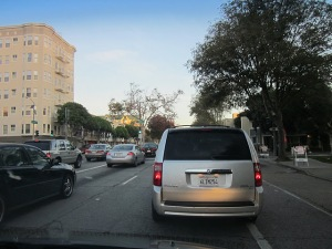 This is light traffic by the standards of a driving commute in San Francisco.