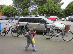 Outside nearly any family-friendly venue in San Francisco you'll find bikes like ours.