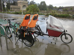 The California Academy of Sciences installed cargo bike-friendly parking right in front. Mwah!