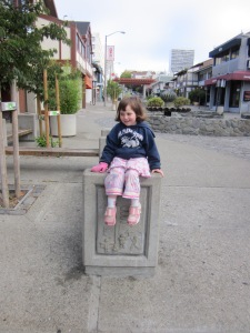 We notice the world when walking to school too, like these carvings in Japantown.