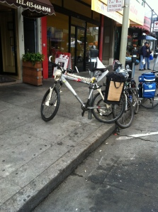 Spotted at Richmond Sunday Streets: skeleton bike