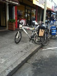 Spotted at Richmond Sunday Streets: skeleton bike