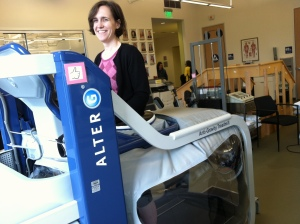 I learned how to walk again on the anti-gravity treadmill, but I don't need it anymore.
