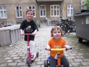 This is how our kids figured out bikes, in Copenhagen.