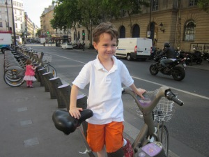 Velib, the Parisian bike share, only appeared after we lived there--sometimes I think how much sooner I could have gotten back on a bike.