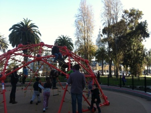A very California Christmas season at the Embarcadero playground