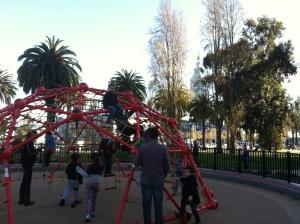 A very California Christmas season at the Embarcadero playground