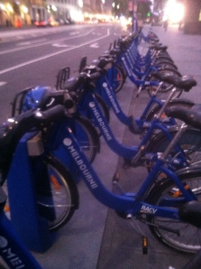 The increasingly ubiquitous bike share of total awesomeness, in Melbourne