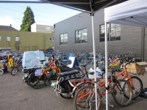 A reunion of family bikes in Portland last weekend