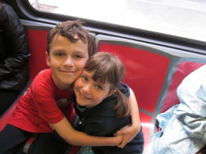 It's also been a Muni-rific couple of weeks. Kids love trains.
