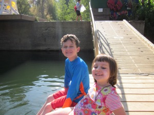 Hanging out on the dock at Birch Lake