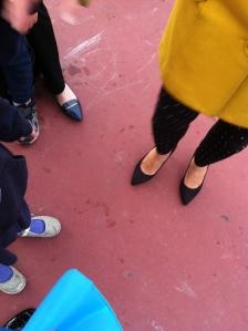 Parent shoes v. kid shoes in San Francisco