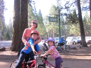 They rode those bikes everywhere at Camp Mather, even to the bathhouse 20 feet from our cabin.