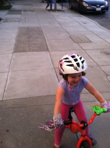 She was really ripping along on that balance bike, though.