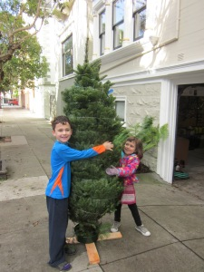 This year, we got a seven foot tree.