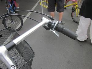8 gears and very wide handlebars