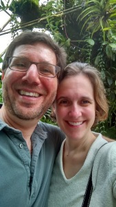 Rare photo of both household adults together in the wild, at the Conservatory of Flowers