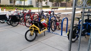 The Rosa Parks racks in front of school, and this was before most of the riders arrived