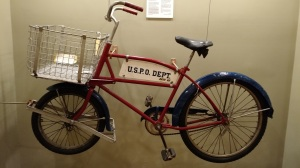 Authentic mail bike: Now we're talking.