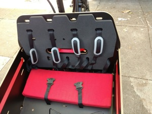 Here's the box with seat cushions and restraints.